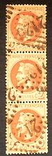 timbre france, n°26, 2c brun empire lauré, TB, Obl, cote 130e très jolie bande