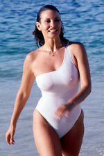 RAQUEL WELCH WHITE WET FIGURE HUGGING SWIMSUIT 24X36 POSTER C