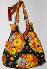 Ladies Multicoloured Screen Print Handloom Fabric Bag