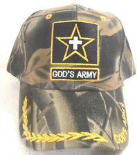 RELIGIOUS NEW BALL CAP GOD'S ARMY CAMOUFLAGE HAT  CHRISTIAN