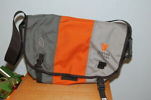 "Timbuk2 19"" Laptop Messenger Bag Grey Orange Ventus Medical Logo Made in SF"