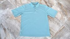 Links Edition Mens LT Pale Green SS Golf Polo Shirt - Large Tall Polyester EUC