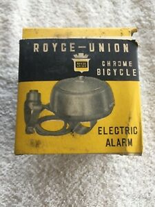 Vintage Royce-Union Electric Alarm Bicycle Bell Model 975- NOS Made in Japan