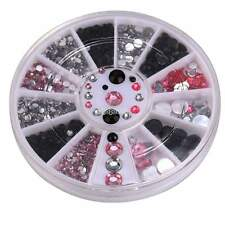 4 Taille Roue 3D Nail Art Strass Glitter Ongles Conseils Décoration 1.5mm-4mm