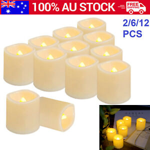 Flickering Battery Operated  Flameless LED  Candle Lights Home Wedding Decor AUS
