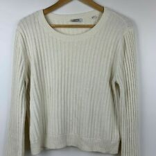 Marcs Cream Ribbed Wool Blend Cropped Knit Size XL ~ Free AU Post!