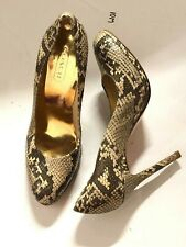 Coach Chelsey Tan Leather Snake Skin Python Pumps Size 6B  #88 $325