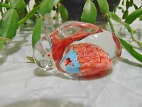 ❤ Hand Blown BUNNY RABBIT Glass Paperweight Millefiori FREE SHIPPING