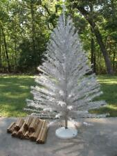 Taper Tree * 7' ft Silver Aluminum Christmas Tree * 201 Branches * Vintage Xmas