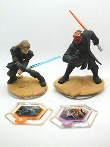 Disney Infinity 3.0 Star Wars Lot Of 2 Darth Maul & Skywalker With Power Disc