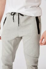 Factorie Mens Tech Track Pant Fleece Bottoms  In  Grey