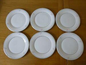 "6 Royal Doulton Carnation 8"" Salad/Dessert Plates - Appear Unused!"