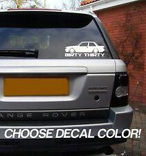 "Dirty Thirty E30 8"" Vinyl Sticker Decal - Choose Color! bumper car window bmw"