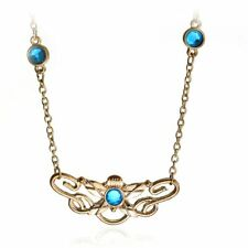 The Lord Of The Rings Elves Eowyn Maxi Pendant Necklace Gold And Blue