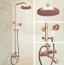 Antique Red Copper Wall Mounted Rain Shower Faucet Set W/ Tub Mixer Tap 8rg505