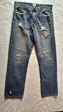 Pre Owned PJ Mark Distressed, Destroyed, Ripped Jeans Size 32 W X 32 L