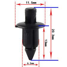 100 Pcs Motorcycle ATV Body Push Pin Rivet Fastener Trim Moulding Clip 6mm Holes