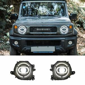For Suzuki Jimny LED Headlights Projector HID DRL Replace OEM Halogen 2018-2020