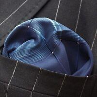 Hankie Pocket Square Cotton Handkerchief Dk Brown with Blue CH211