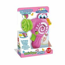 Baby Toy Hairdryer Rattle Light Sound & Music 10 - 36 Month Clementoni NEW BOXED