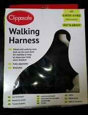 Baby walking harness Clippasafe 6mth - 4 years black