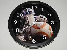 Star Wars The Force Awakens BB-8 R2-D2 10 Inch Plastic Wall Clock
