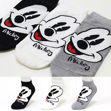 3 Pairs Women Girls Big Kid s Disney Character Socks Mickey Mouse Cartoon Socks