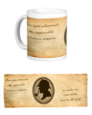 Sherlock Holmes Quote Mug. Conan Doyle. Books. Literature. Elementary. Detective