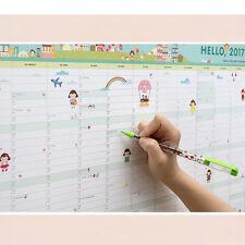 NEW Wall Decoration A2 Paper Agenda Planner Organizer Schedule 365 Calendar Day