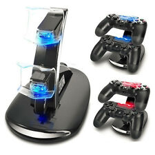 LED Dual Charger Dock Mount USB Charging Stand For PS4 PlayStation Controller