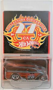 2013 HOT WHEELS 27TH ANNUAL COLLECTORS CONVENTION DINNER CAR DRAG DAIRY