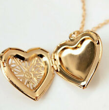Charm Women Trendy Mom Lady Gift Gold Hollow Collar Heart Chain Pendant Necklace