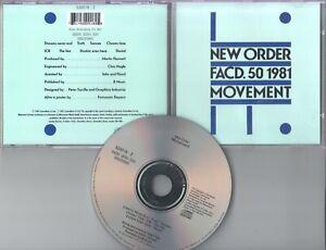 New Order CD MOVEMENT  ©  1981