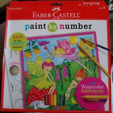 Faber-Castell Young Artist Paint By Number Kit Fairy Garden, Kids Watercolor.