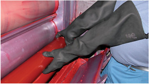 Extra Long Heavy Duty Rubber Gloves Gauntlets Shield EN420 EN388 EN374-2 EN374-3