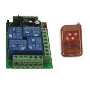 Wireless Switch 12V 4CH Channel Relay Remote Control Transmitter+Receiver Module