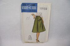 Ancien PATRON MARIE-CLAIRE 60's JUPE n°5729 Taille 40 Elégance de Paris