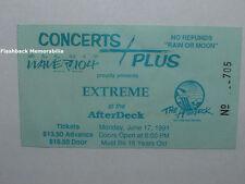 Extreme Concert Ticket Stub 1991 Myrtle Beach S.C. Gary Cherone Van Halen