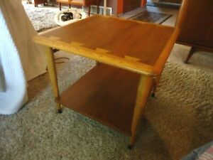 """Mid Century Modern Lane Acclaim Dovetail Lamp End Side Table 900-06 Square 23"""""""
