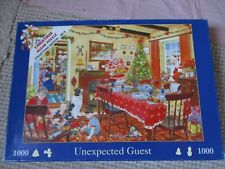 1000 piece jigsaw House of Puzzles Unexpected Guest Christmas scene