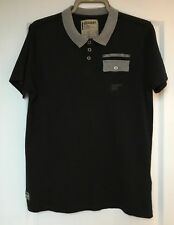 """Dissident"" Men's Polo Shirt, Size M, Black/Grey collar, Short Sleeves, Exc Cond"