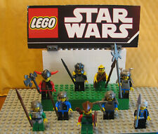 """LEGO  CASTLE  LOT MINIFIGURE  MINI FIG  """"  LOT OF 9  KNIGHTS  FORESTMAN WEAPONS"""