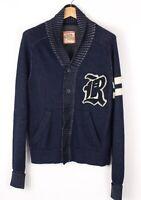 Replay Herren Baumwolle Wolle Freizeit Strickjacke Pullover Größe L BCZ398