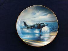 """Danbury Mint Classic RAF Aircraft """"Hawker Siddeley Harrier"""" plate"""