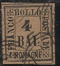 ANTICHI STATI: 1859 ROMAGNE 4 BAI FULVO TIMBRATO