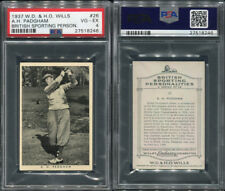 1937 W.D. & H.O. WILLS BRITISH SPORTING PERSONALITIES #26 A.H. PADGHAM PSA 4 (82