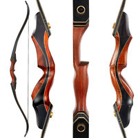 """Archery 60"""" Takedown Recurve Bow Laminated Limbs Adult Hunting Target 30-50lbs"""