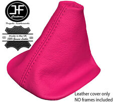 PINK REAL LEATHER FITS VW GOLF MK4 98-05 BORA GEAR GAITOR COVER