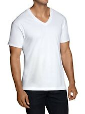 Alfani White Cotton V-Neck Short Sleeve T-Shirt XLT Big & Tall