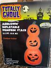 NEW! TOTALLY GHOUL LIGHT UP 3 HALLOWEEN PUMPKIN STACK TOTEM POLE INFLATABLE PROP